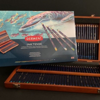 Wooden box Derwent: procolour, pastel, coloursoft of inktense van € 186,50 voor € 99,00