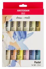 amsterdam acryl set 12 x 20ml pastel