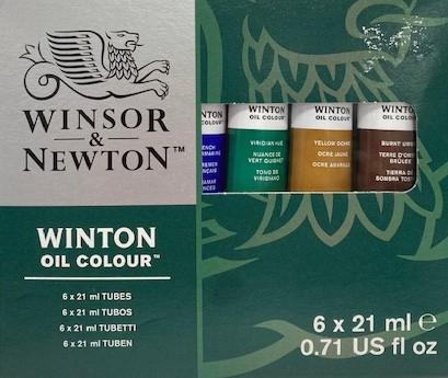 olieverf Winsor&Newton 6 x 21ml