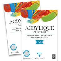 acryl blok clairefontaine A4